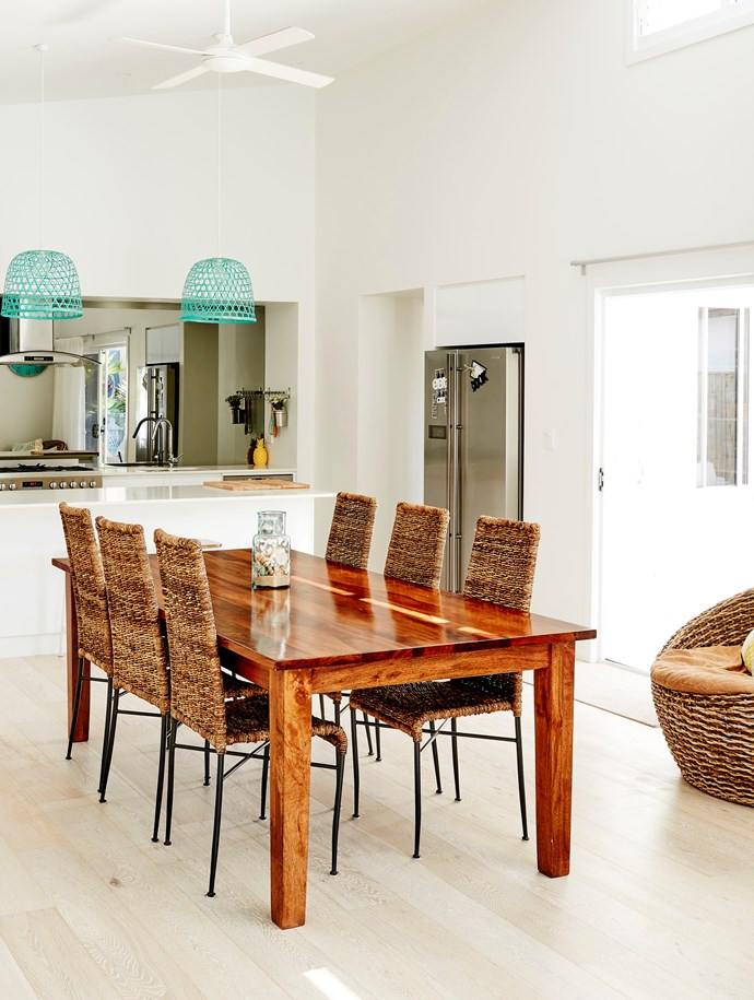 The open-plan dining area leads out to the pool and is perfect for entertaining.