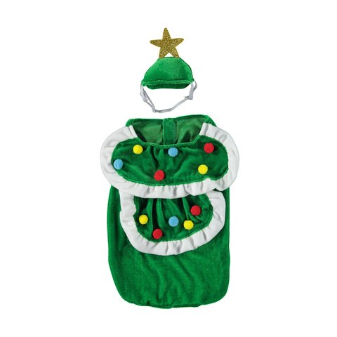 "X-Large Christmas Tree Pet Costume, $4, [Kmart](http://www.kmart.com.au/product/x-large-christmas-tree-pet-costume/1804344|target=""_blank"")"