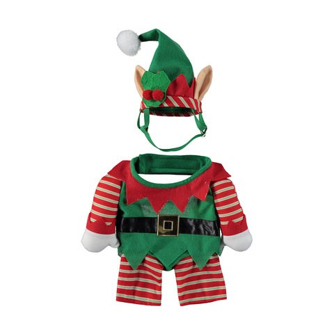"Small Christmas Pet Elf Costume, $7, [Kmart](http://www.kmart.com.au/product/small-christmas-pet-elf-costume/1804342 |target=""_blank"")"