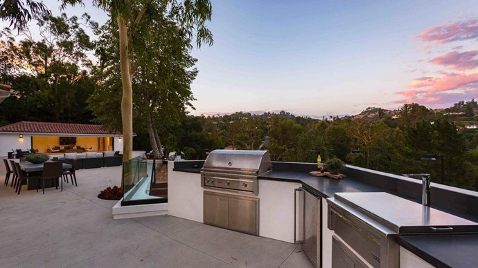 Beautiful views - as the sun sets over Beverly Hills, this outdoor space comes to life.