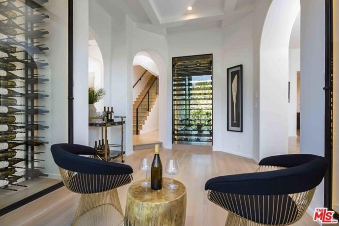 Eva Longoria has spoken previously about her love of wine, so it's not too surprising to see a such a well designed room dedicated to the beverage. Arguably the best room in the house, the wine cellar features a tasting room and floor-to-ceiling wine display cabinet.