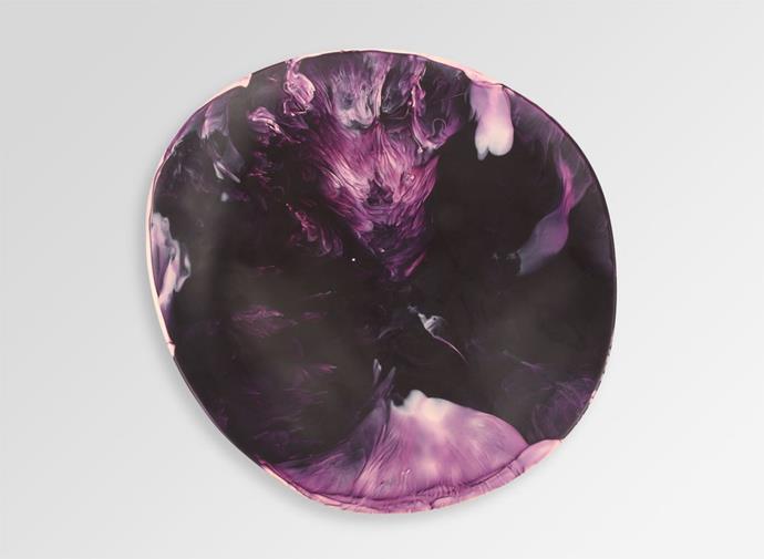 "Medium Resin Modern Tribal Platter -in Warm Swirl Dark, $150, [Dinosaur Designs](https://www.dinosaurdesigns.com.au/medium-resin-modern-tribal-platter-warm-swirl-dark/|target=""_blank""|rel=""nofollow"")"