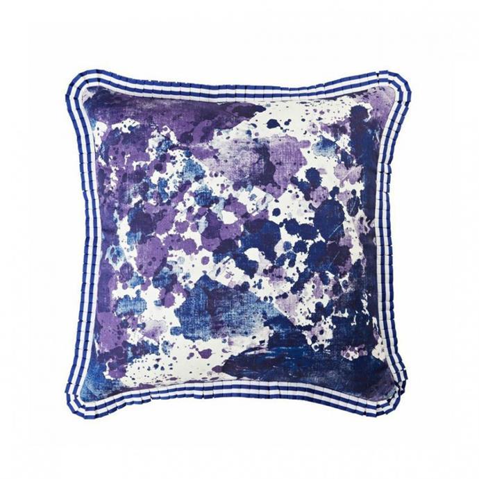"Watercolour Blue Cushion, $195, [Bonnie & Neil](http://www.bonnieandneil.com.au/product/watercolour-blue-60cm/|target=""_blank""|rel=""nofollow"")"