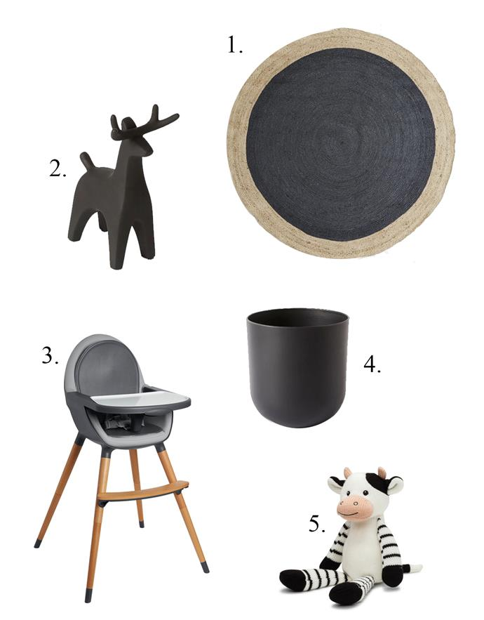 "**1.** Jute Rug, $199, [West Elm](http://www.westelm.com.au/bordered-round-jute-rug-slate-t1284|target=""_blank""