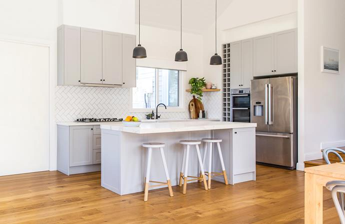 The couple had hydronic heating installed under the engineered European oak floors.