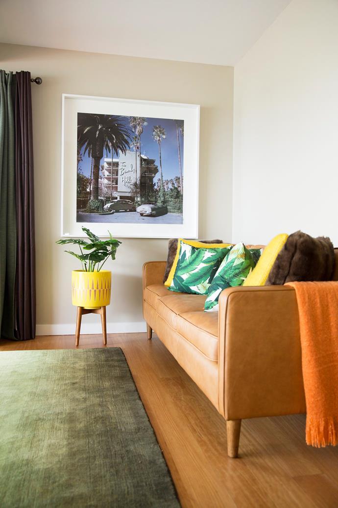 "Hamilton 3-seater leather sofa in Sienna, $2799, from [West Elm](http://www.westelm.com.au/sofas-we-au|target=""_blank"")."