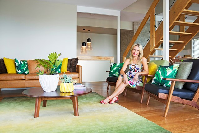 Cherie Barber at her holiday home in Byron Bay.