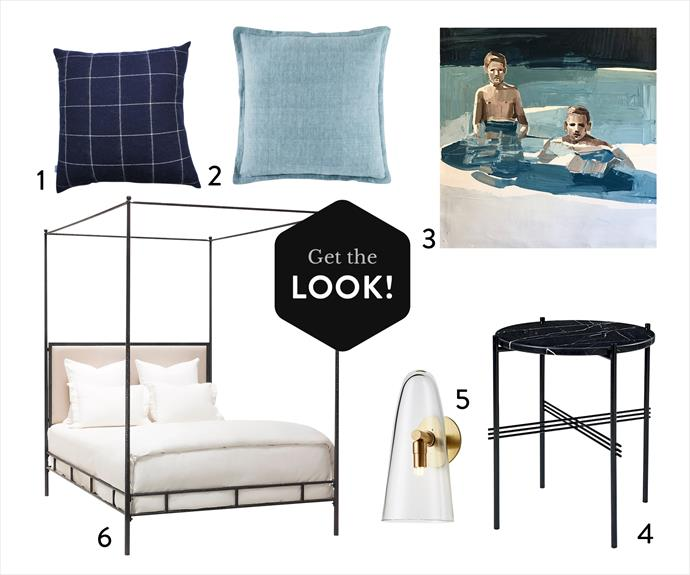 "1. Linen cushion in Sage, $70, [Kas Australia](https://www.kasaustralia.com.au/|target=""_blank"").  2. 'Tartan' wool cushion, $149, [Hamptons House](https://hamptonshouse.com.au/