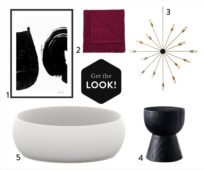 """1. 'Monochrome Patterns 2' by Nick Leary art print, from $890, [King Living](https://www.kingliving.com.au/furniture/nick-leary-art-collection/