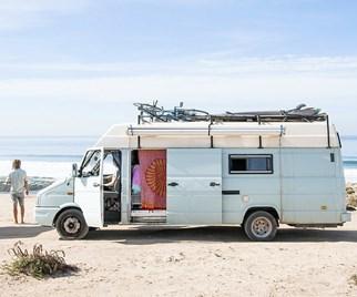 Camper van at the beach