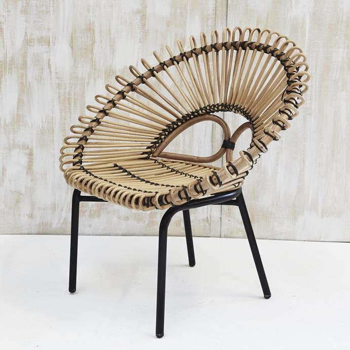 "Diia Rattan Armchair, $589 at [Zanui](http://fave.co/2D6PqTx|target=""_blank"")"