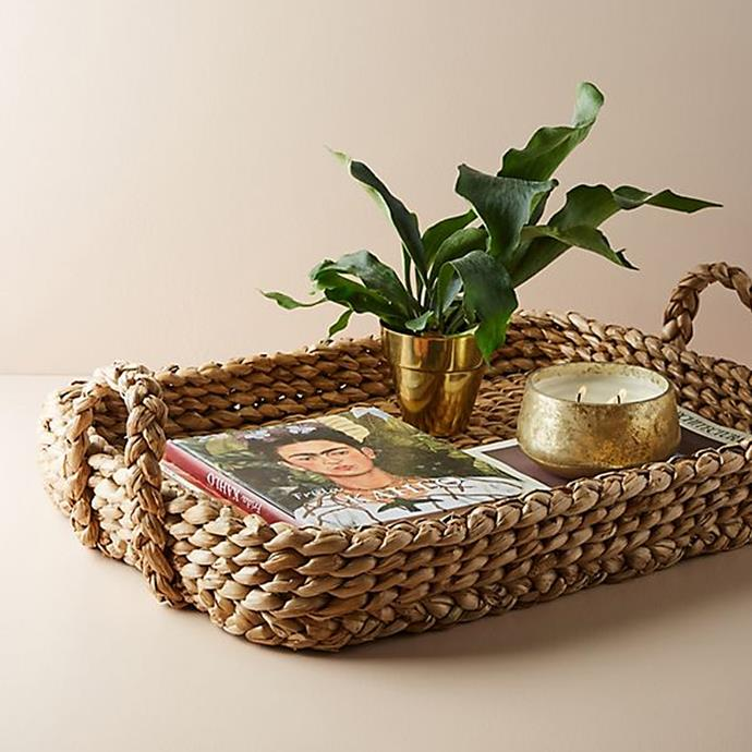 "Wicker Tray, $128 at [Anthropologie](http://fave.co/2CSOA9G|target=""_blank"")"