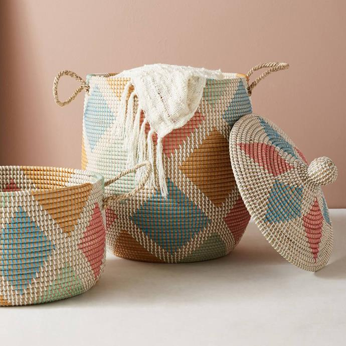 "Rattan Laundry Basket, $78 at [Anthropologie](http://fave.co/2CUgv98|target=""_blank"")"