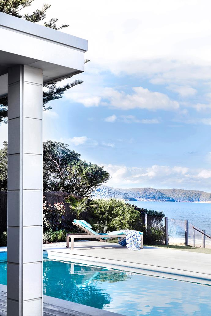 From the backyard, there isn't another house in sight – just sweeping views out to Barrenjoey Headland and Bouddi Peninsula.