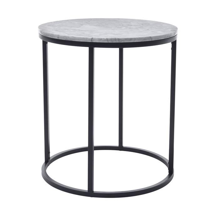 Marble side table, $29 (coming soon!)
