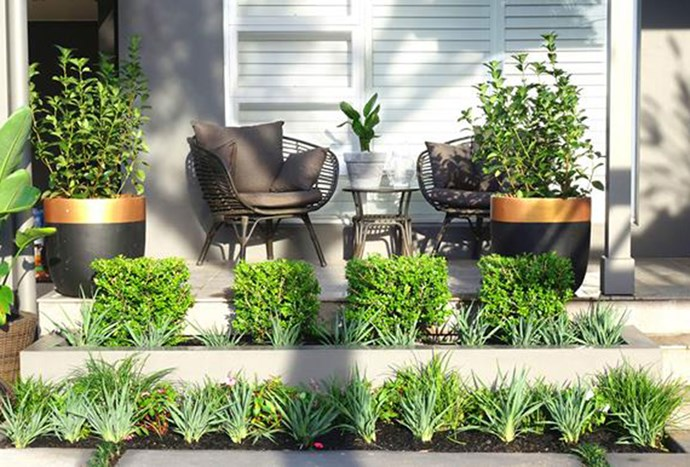 """Bamboo-framed [outdoor furniture](https://www.homestolove.com.au/jamie-duries-front-yard-makeover-4611