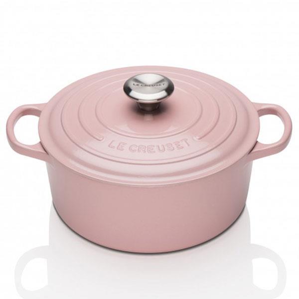 "Signature Cast Iron Round Casserole in Chiffon Pink, from $319, [Le Creuset](https://www.lecreuset.com.au/signature-cast-iron-round-casserole-83|target=""_blank""|rel=""nofollow"")"