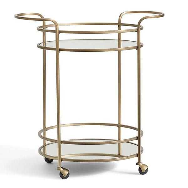 "'Tristan' Bar Cart, $534, [Pottery Barn](http://www.potterybarn.com.au/tristan-metal-glass-bar-cart|target=""_blank""|rel=""nofollow"")"