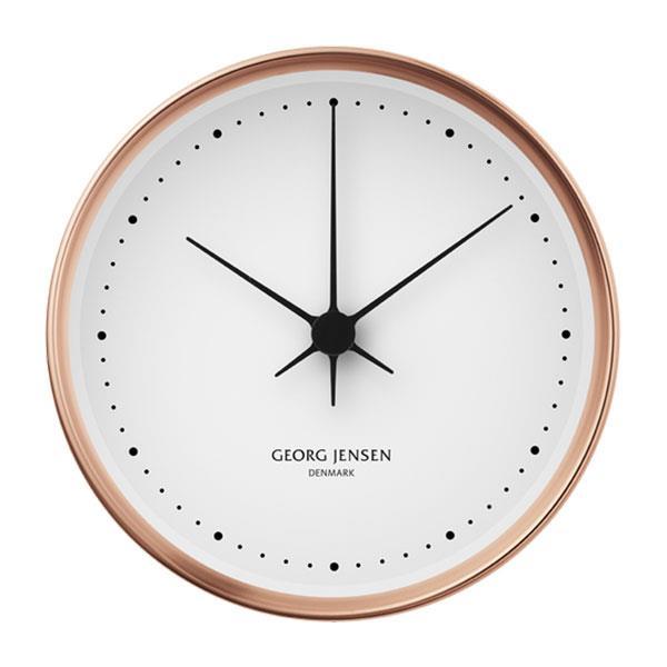 "Koppel 22cm Wall Clock in Copper, $395, [Georg Jensen](https://www.georgjensen.com/en-au/home-decor/clocks-and-weather-stations/koppel-22-cm-wall-clock-copper-with-white-dial/3587523.html?cgid=413#start=9|target=""_blank""|rel=""nofollow"")"