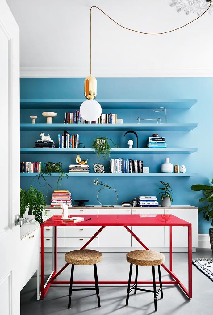 Strut table, Blu Dot. Sinnerlig stools, Ikea. sisalla.com.au
