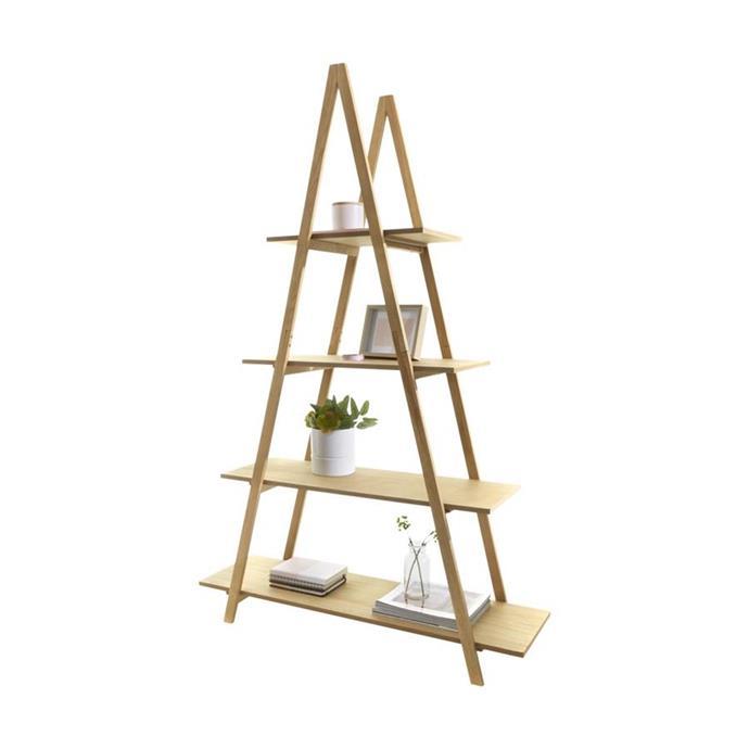 A-frame ladder bookshelf, $45.