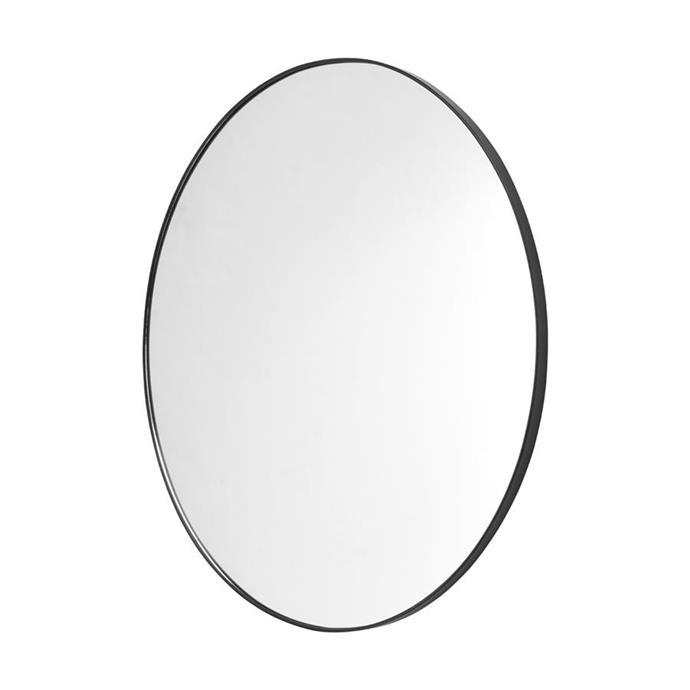 Large round mirror, $29.