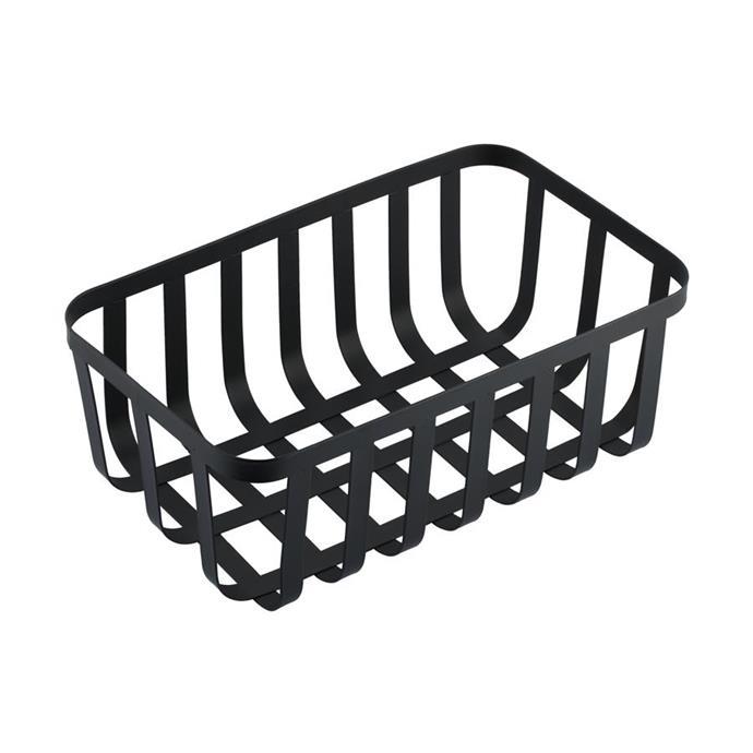 Wire basket in black, $5.