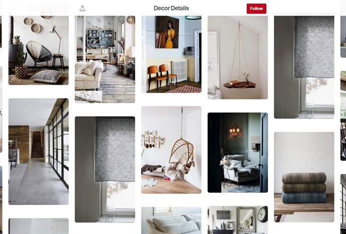 """Whether you're obsessed with interior decorating or starting a new design project, [Emma Harris](https://www.pinterest.com.au/aquietstyleuk/ target=""""_blank"""") has put together beautiful boards that feature every interior style."""