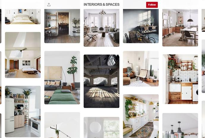 """With only 16 boards, [Thomas Murphy](https://www.pinterest.com.au/therealmurphy/ target=""""_blank"""") has a following of over one million. From kids rooms, townhouses and home décor, the blogger has pulled together stylish imagery with a chic aesthetic."""