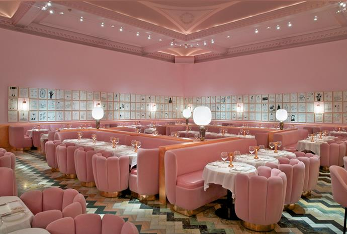 """**Sketch London** <br><br> From pink velvet chairs to matching walls and lively artworks, the interior of one of London's most Instagrammable restaurants, Sketch London, is a millennial pink lover's dream. *Photo via [Sketch London](https://sketch.london/
