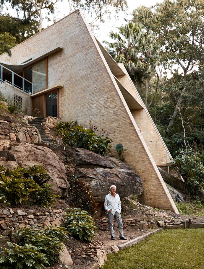 Peter Stutchbury was photographed exclusively for Belle at Cabbage Tree House in Bayview in Sydney's north.