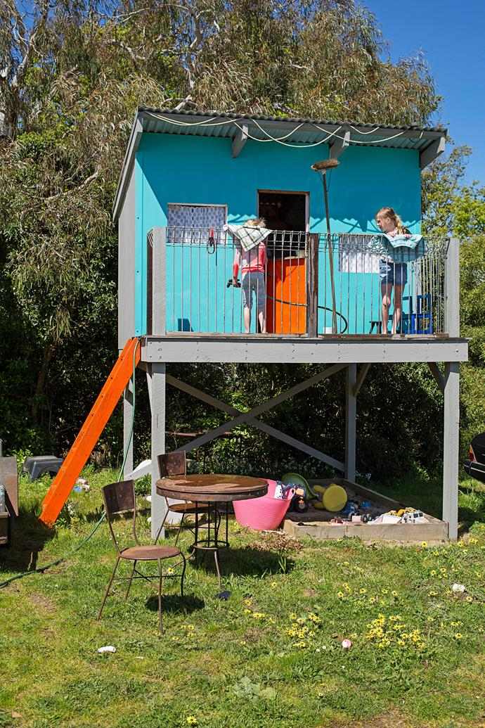 The kids have their own fun-filled haven in the backyard.