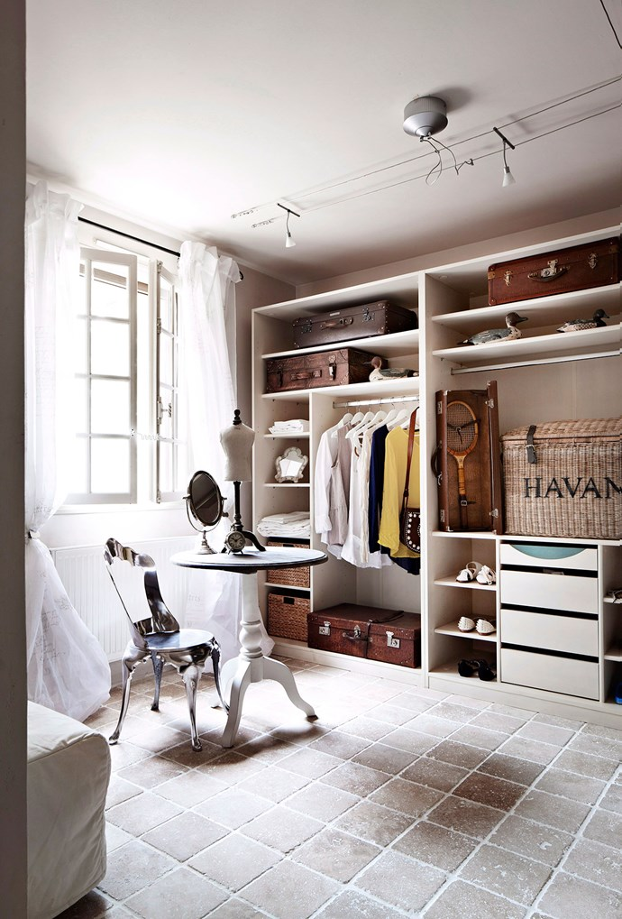 Spare rooms within the home can easily be transformed into a walk-in wardrobe space, once fitted with desired cabinets. *Photo: Armelle Habib | Story: Australian House & Garden*