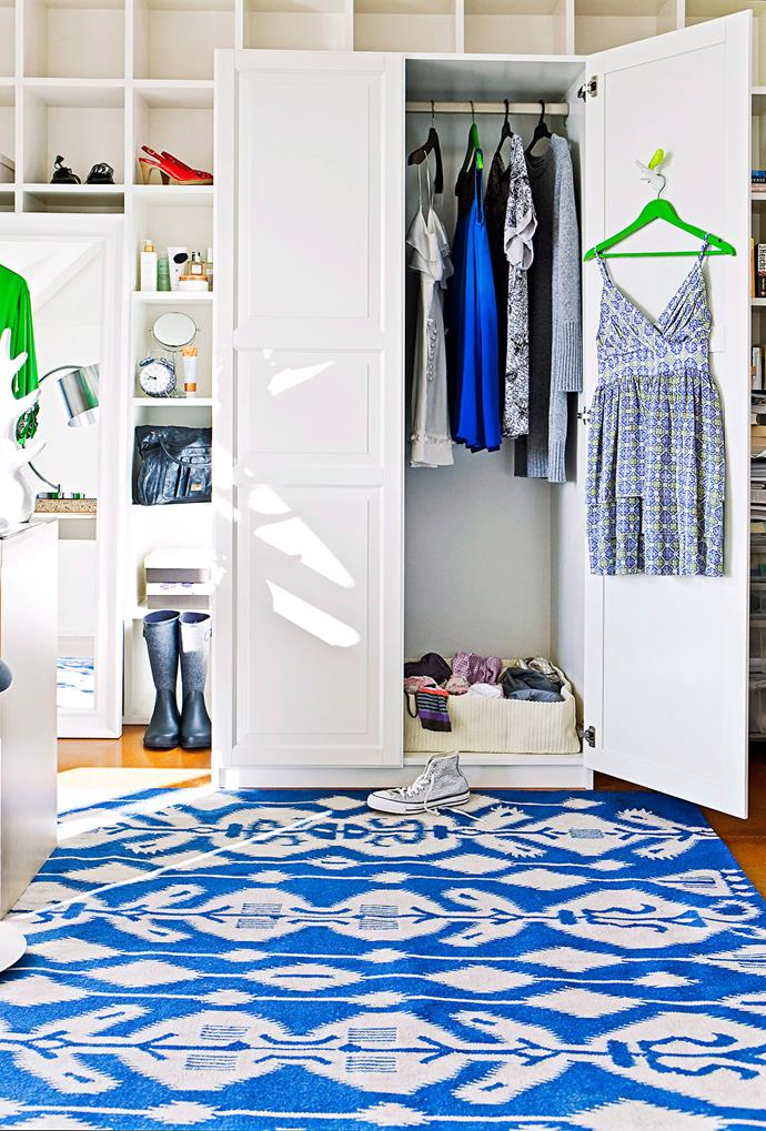 Use high or out-of-the-way shelves for storing bags you might not need as often. Photo: bauersyndication.com.au