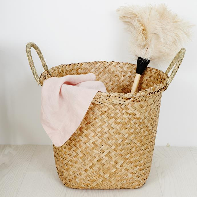 "Functional and stylish, [Oli Ella's Billy basket](https://www.olliella.com.au/|target=""_blank"") (from $28) is perfect for storing everything from toys to laundry."