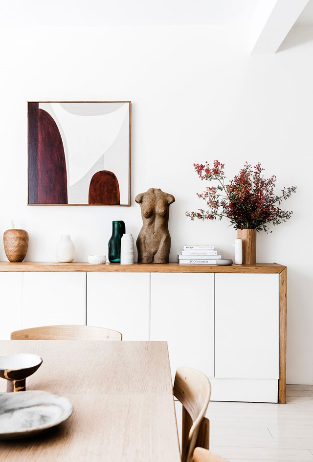 70s-inpsired colours, textures and old and new décor pieces combine to create an authentic look with a contemporary twist. Photo: Maree Homer / *real living*