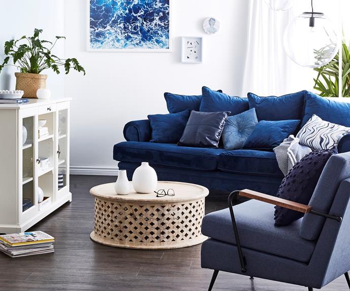 coastal luxe living room