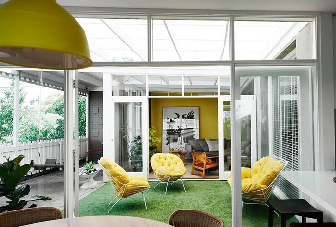 "Splashes of yellow feature throughout this cheerful, [kid-friendly home](https://www.homestolove.com.au/a-cheerful-and-kid-friendly-home-renovation-3774/|target=""_blank""). *Photo: Sharyn Cairns*"