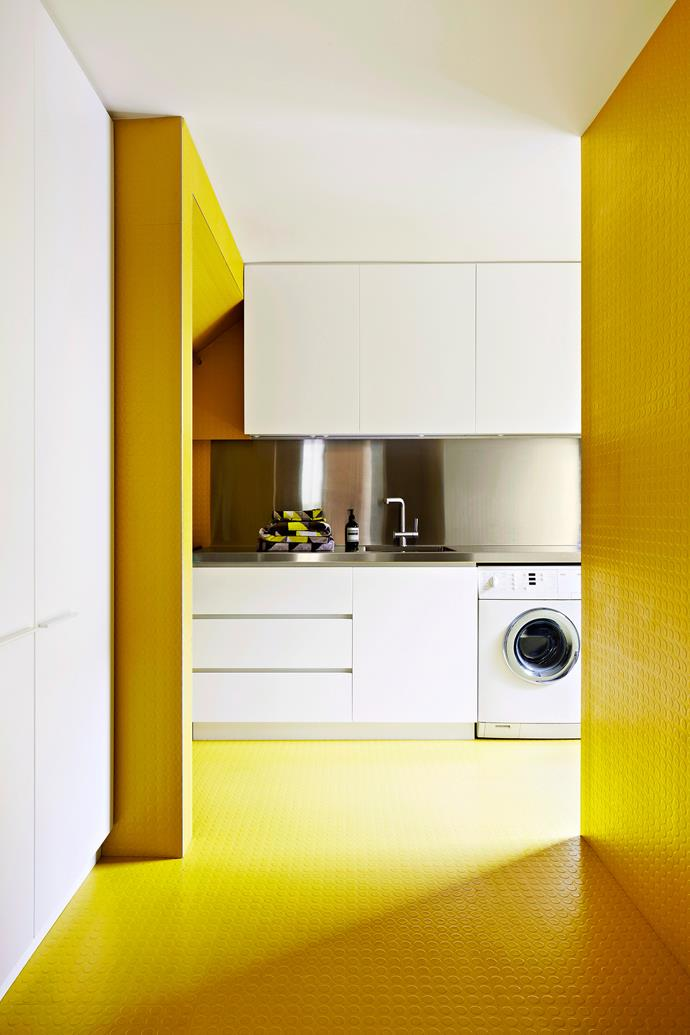 Introduce bright colours into your laundry to create a cheerful and inviting space. Photo: Armelle Habib / *bauersyndication.com.au *