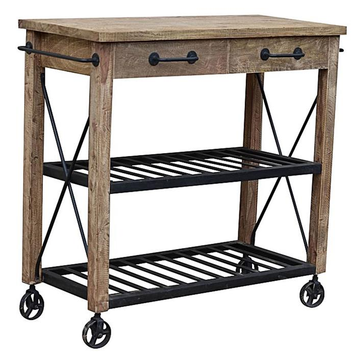 "**Trolleys:** Light and mobile, a trolley makes a useful storage hub in a space-challenged room. Venedict kitchen trolley, $869 from [Zanui](https://www.zanui.com.au/Venedict-Kitchen-Trolley-141440.html|target=""_blank"")."