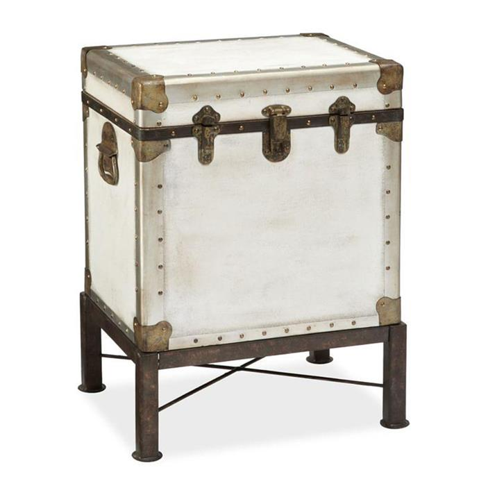 "**Trunks:** Ludlow trunk side table, $669 from [Pottery Barn](https://rstyle.me/n/cyxx3dvs36|target=""_blank"")."