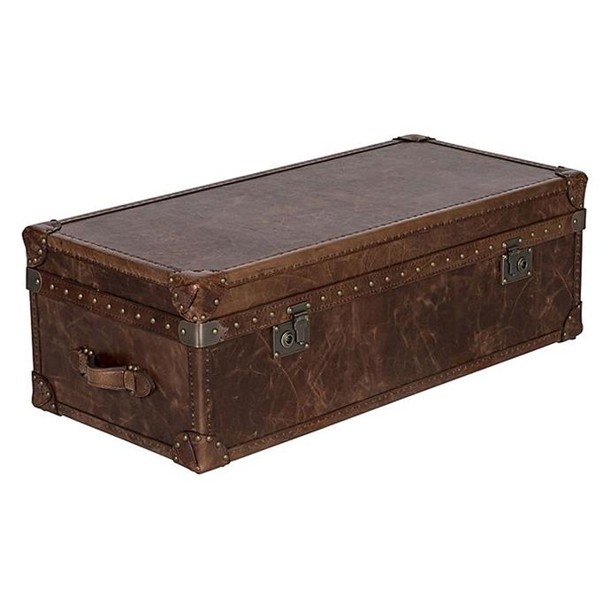 "**Trunks:** Gabi trunk coffee table, [Zanui](https://www.zanui.com.au/Gabi-Trunk-Coffee-Table-Cognac-142221.html|target=""_blank"")."