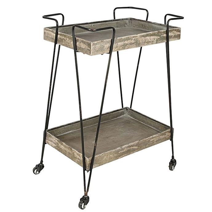 "**Trolleys:** Donovan Trolley, $225 from [Zanui](https://www.zanui.com.au/Donovan-Trolley-134907.html|target=""_blank"")."
