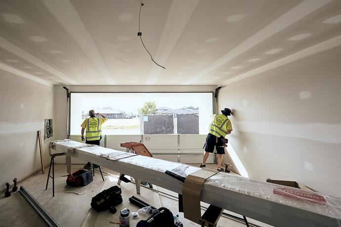 """**MARCH 5, 2018: GARAGE DOOR INSTALLED** <br><br> An installation team from [B&D](https://www.bnd.com.au
