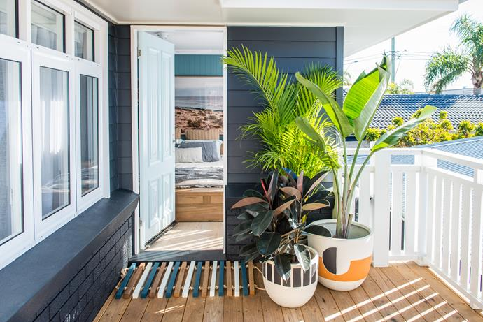 A stunning entrance to their Toowoon Bay home. *Photo: supplied*