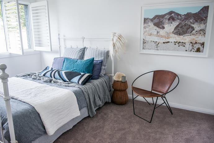 Kyal and Kara showcase their love for texture in this tactile bedroom. *Photo: supplied*