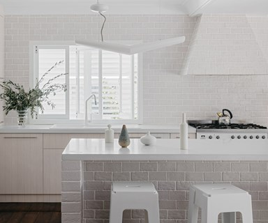 An all-white kitchen that's anything but sterile