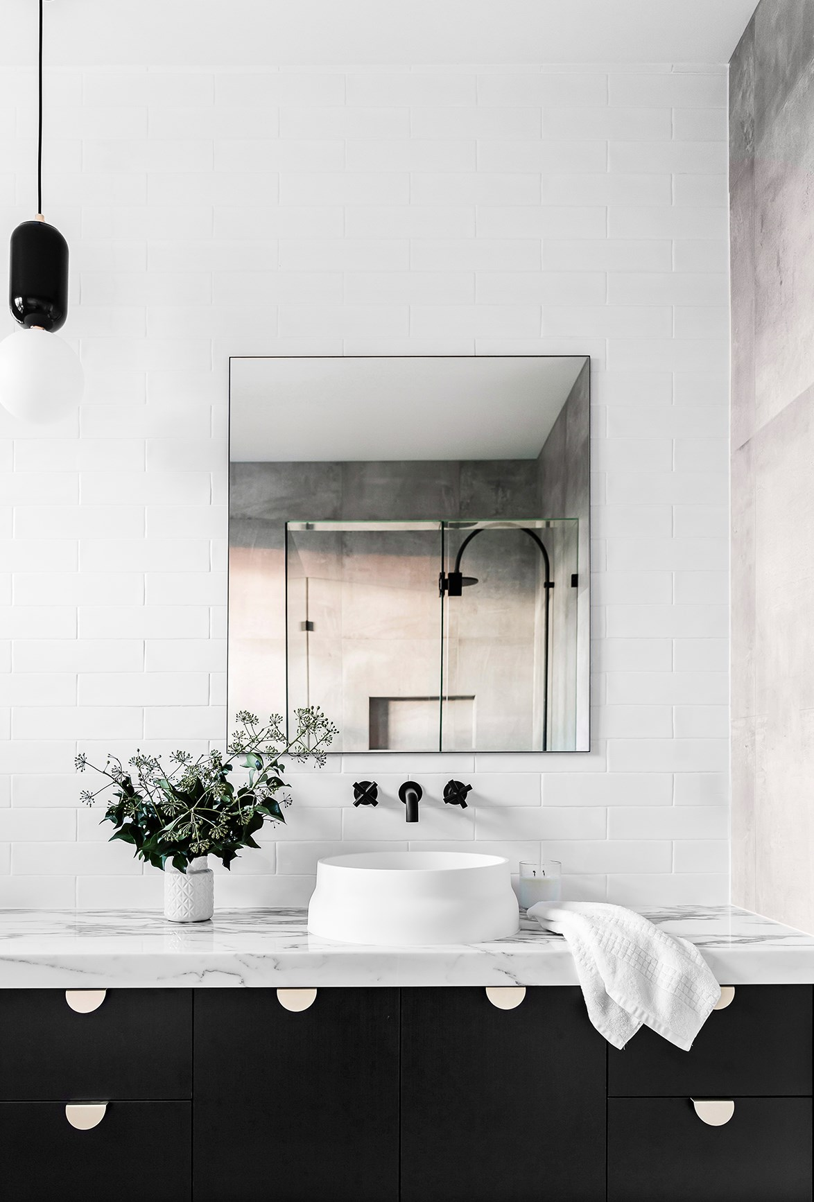 """**MONOCHROME**<p> <P>A [monochrome interior](https://www.homestolove.com.au/monochrome-bathrooms-6390