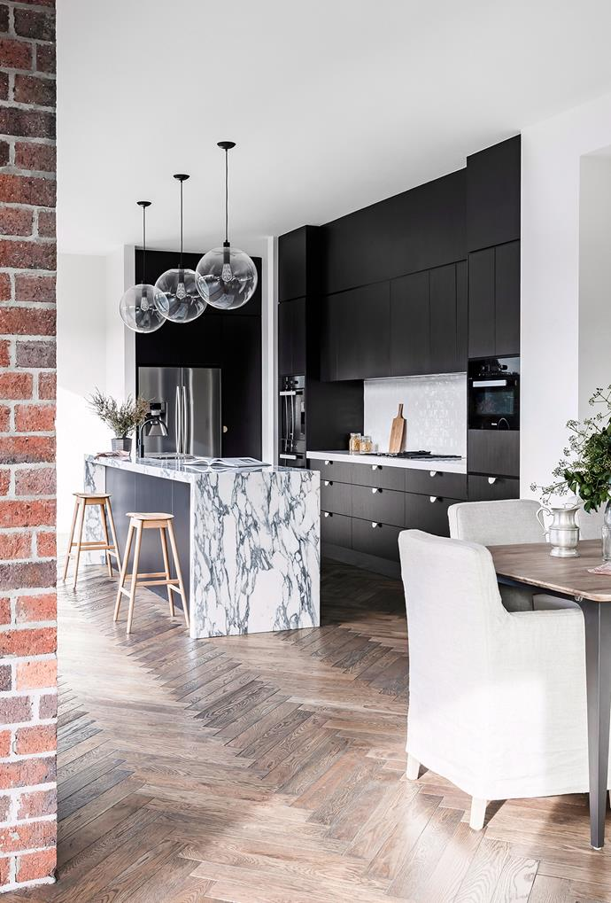 """**Pendant lighting:** This not-so-[new design trend](https://www.homestolove.com.au/kitchen-design-trends-2020-20279 target=""""_blank"""") has proven itself a kitchen mainstay. An easy and affordable way to update a space, [pendant lighting](https://www.homestolove.com.au/20-pendant-lights-for-any-style-3874 target=""""_blank"""") that's as practical as it is beautiful. Statement fittings can establish a room's mood and help to zone kitchens that are open-plan. This year, it's all about multiples; opt for a style that complements your hardware. *Photography: Maree Homer / Bauer Syndication*<br><br> *Brought to you by [Laminex](http://www.laminex.com.au/ target=""""_blank"""" rel=""""nofollow"""")*"""