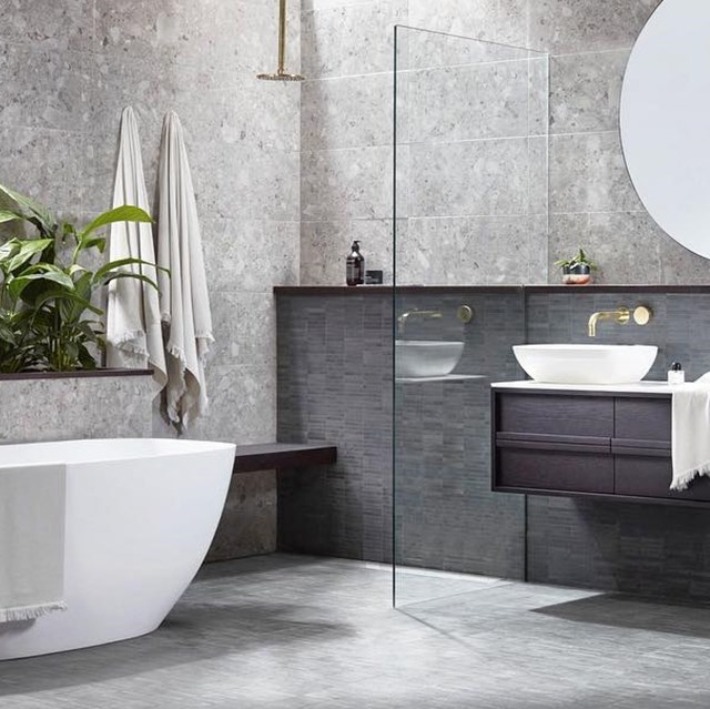 "Using muted tones and earthy materials, the duo designed a resort-style bathroom with relaxation its main priority in collaboration with Reece. *Image: [@alisa_lysandra](https://www.instagram.com/alisa_lysandra/|target=""_blank""